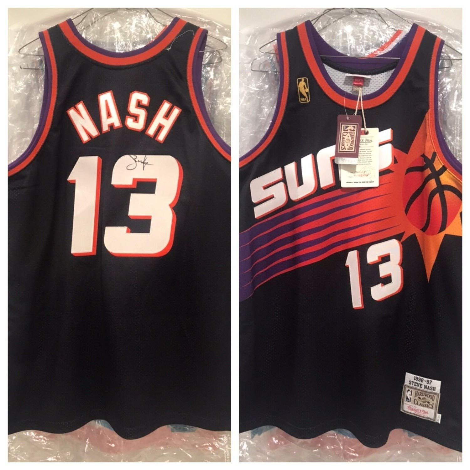 reputable site 23082 79b96 Steve Nash Autographed Signed Suns Authentic Jersey Beckett ...