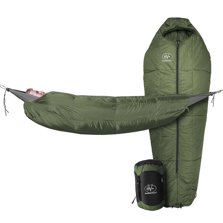 Outdoor Vitals StormLight 15 Degree MummyPod Sleeping Bag For Hammock Or Ground Camping Ultralight Backpacking