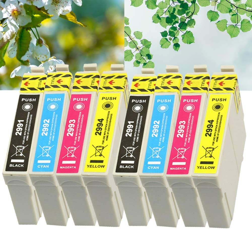 Ouguan® 8X Cartuchos de Tinta Epson 29 XL Compatibles con Epson XP ...