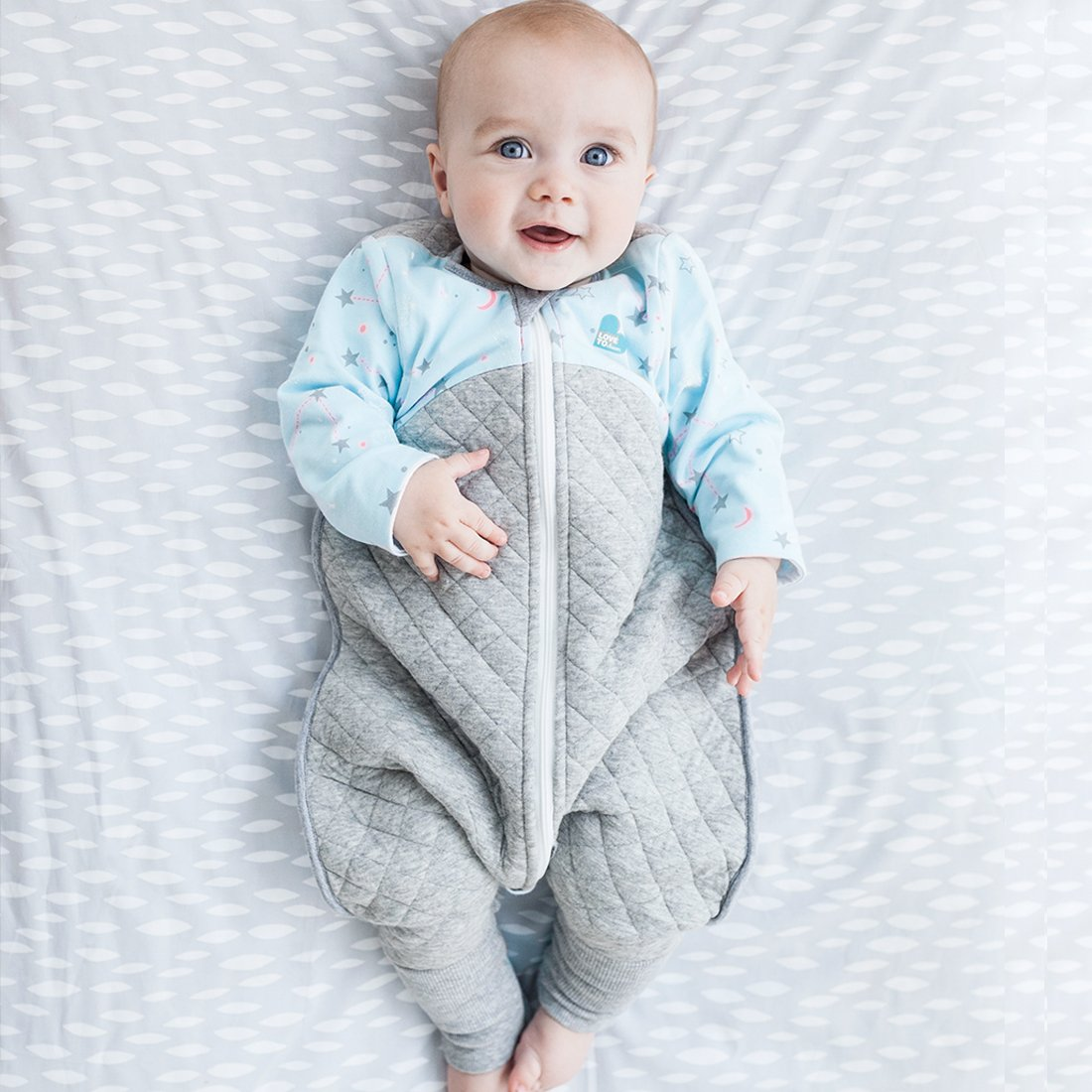 Grey Large 8.5-11 Kg Cheeky Rascals Love to Swaddle Up 50//50