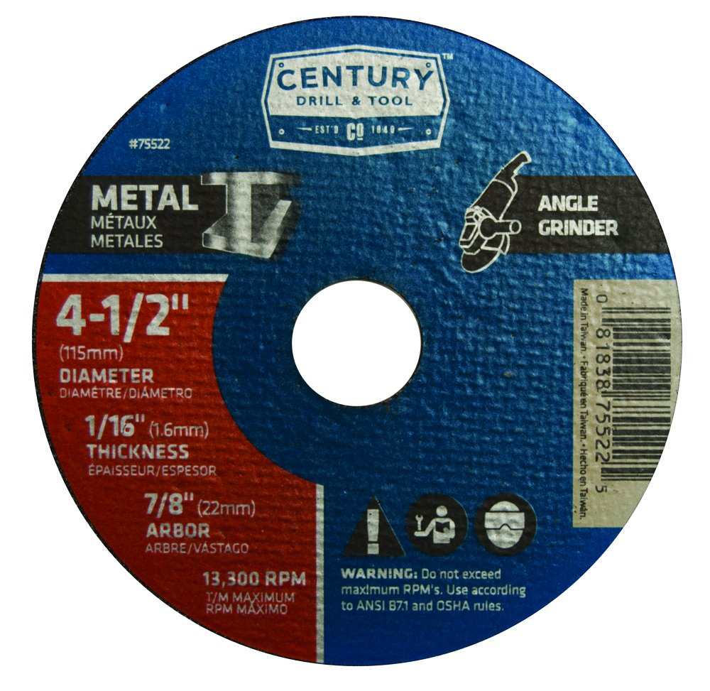 Century Drill and Tool 75522 Metal Wheel 4-1//2-inch