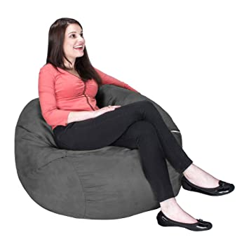 Jaxx Bean Bag Chair With Removable Cover 3 Charcoal