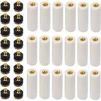 40 STKS (20 Set) 12 MM Biljart Keuen Tips Schroef op Keu Tips Vervanging Harde Biljart Keu Tips Messing Schroef-on…