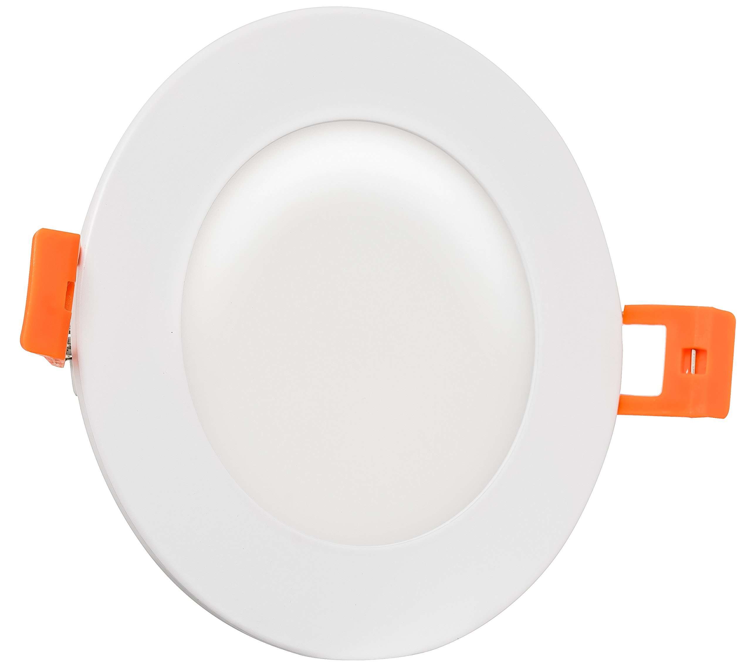 Westgate Lighting 9W 4'' inch Ultra Thin Slim LED Recessed Light - Dimmable Retrofit Downlight Smooth Trim - Junction Box Included - No Housing Required - Ceiling Lights - 120V ETL (3000K Soft White)