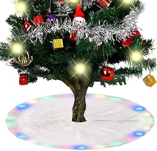Llp Falda del árbol de Navidad con luz de Color Cambio de Piel ...