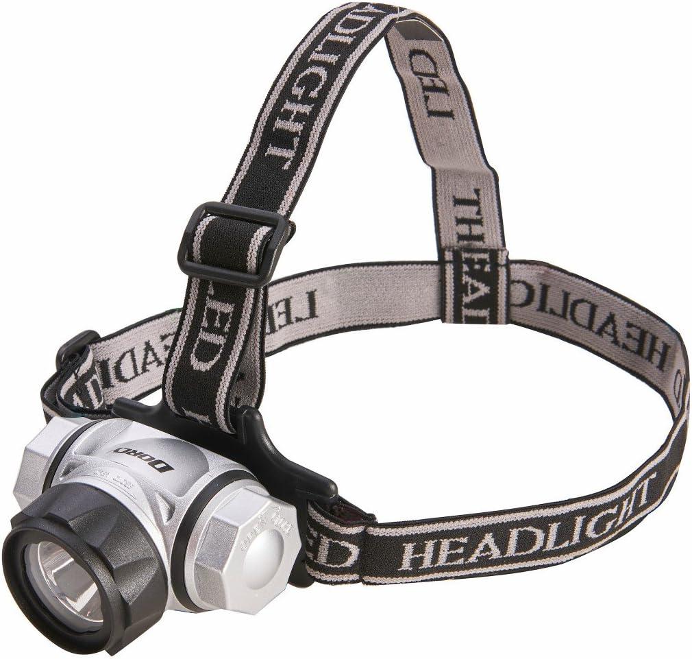 150 Lumen Spotlight Headlamp w// 2 Red LED Pivots 180 Degree 4 Stage Switch BLUE