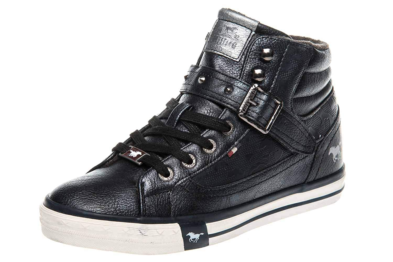 Mustang Damen High Blau Top Hohe Sneaker, Blau High (Navy 820) ebf647