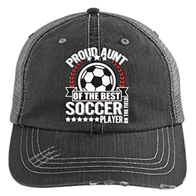 bc6bb056504 Proud Aunt Of The Soccer Player Hat, The Best Soccer Player Trucker Cap  (Trucker