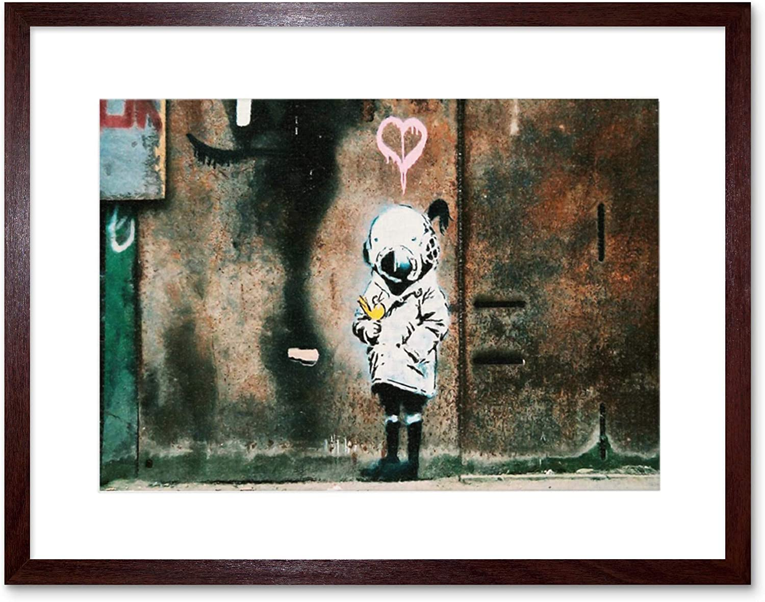 """Banksy Street Art Print poster photo paper painting for glass frame 36/"""""""