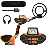 SUNPOW Professional Metal Detector for Adults, Adjustable Ground Balance, Disc & Notch & Pinpoint Modes, Upgraded DSP Chip, M