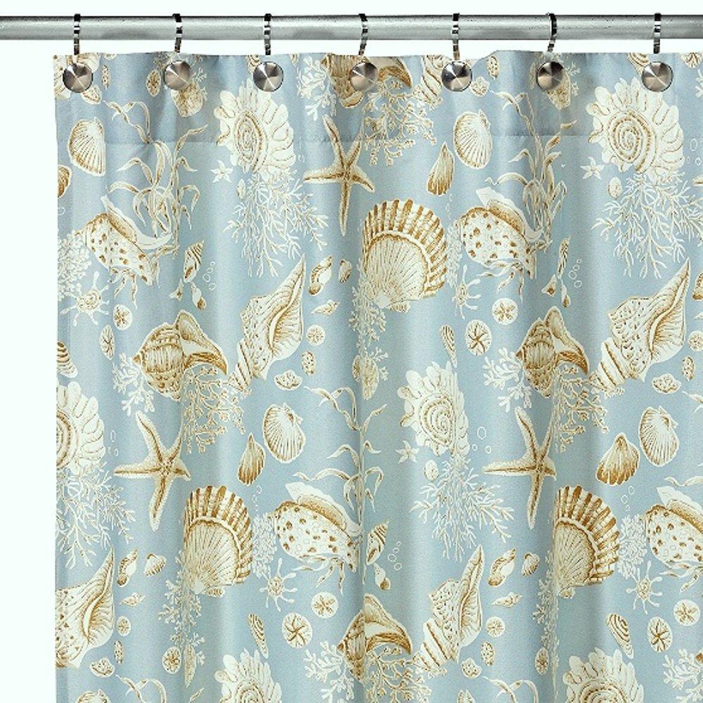 Amazon CF Home Natural Shells Shower Curtain Green Kitchen