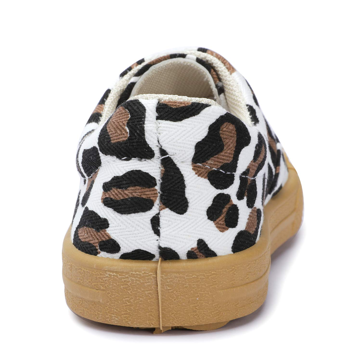 UBELLA Boys Girls Leopard Print Fashion Sneakers Casual Flat Canvas Running Shoes Toddler//Little Kid
