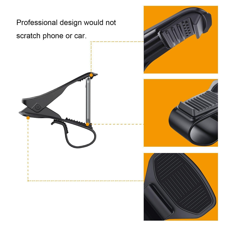 Soporte de coche, soporte de coche HUD la simulación de diseño ATEX/Universal base de soporte de salpicadero para una conducción segura para iPhone 7 Plus ...