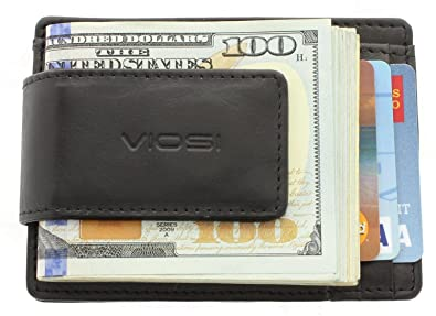 9e85399a4ea1 Image Unavailable. Image not available for. Color  Viosi RFID Men s Leather  Magnetic Front Pocket Money Clip Wallet