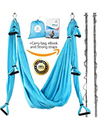 Inversion tables amazon yoga swing antigravity yoga hammock aerial trapeze sling inversion tool for back fandeluxe Images