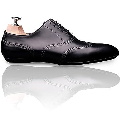 ec9c556562fb0b Vinedge - Chaussure casual chic pour homme, modèle Briac - Couleur : Noir -  Taille