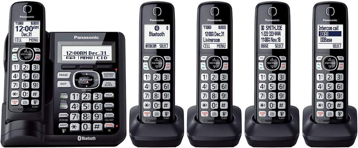 Panasonic 5 Terminal Teléfono inalámbrico con link2cell: Amazon.es: Electrónica