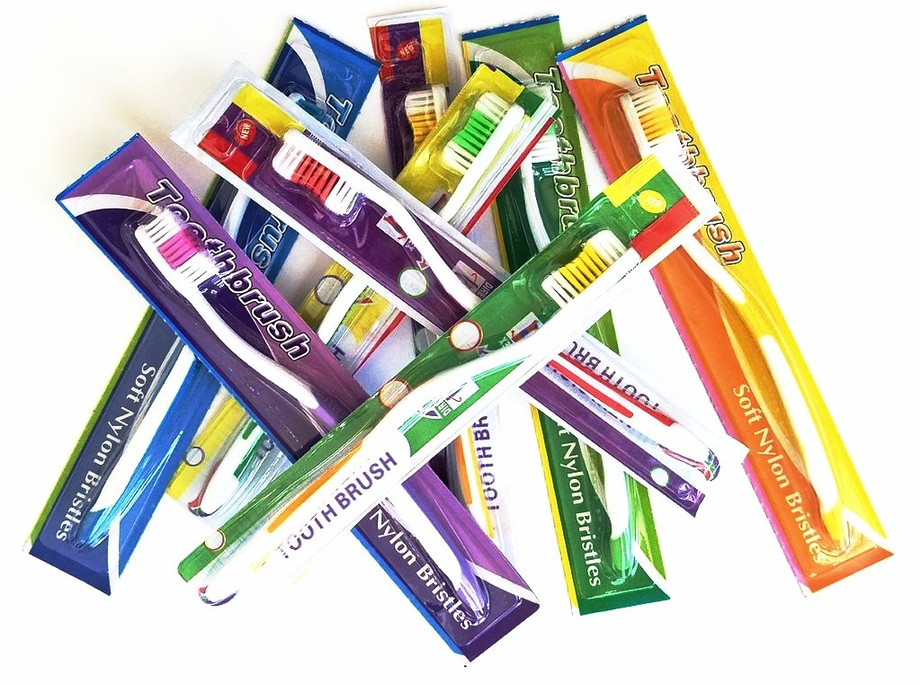 150 plus Bonus Pack of 5 Medium Soft Individually Wrapped Toothbrushes for Charity, Missionary, Shelters or personal use.