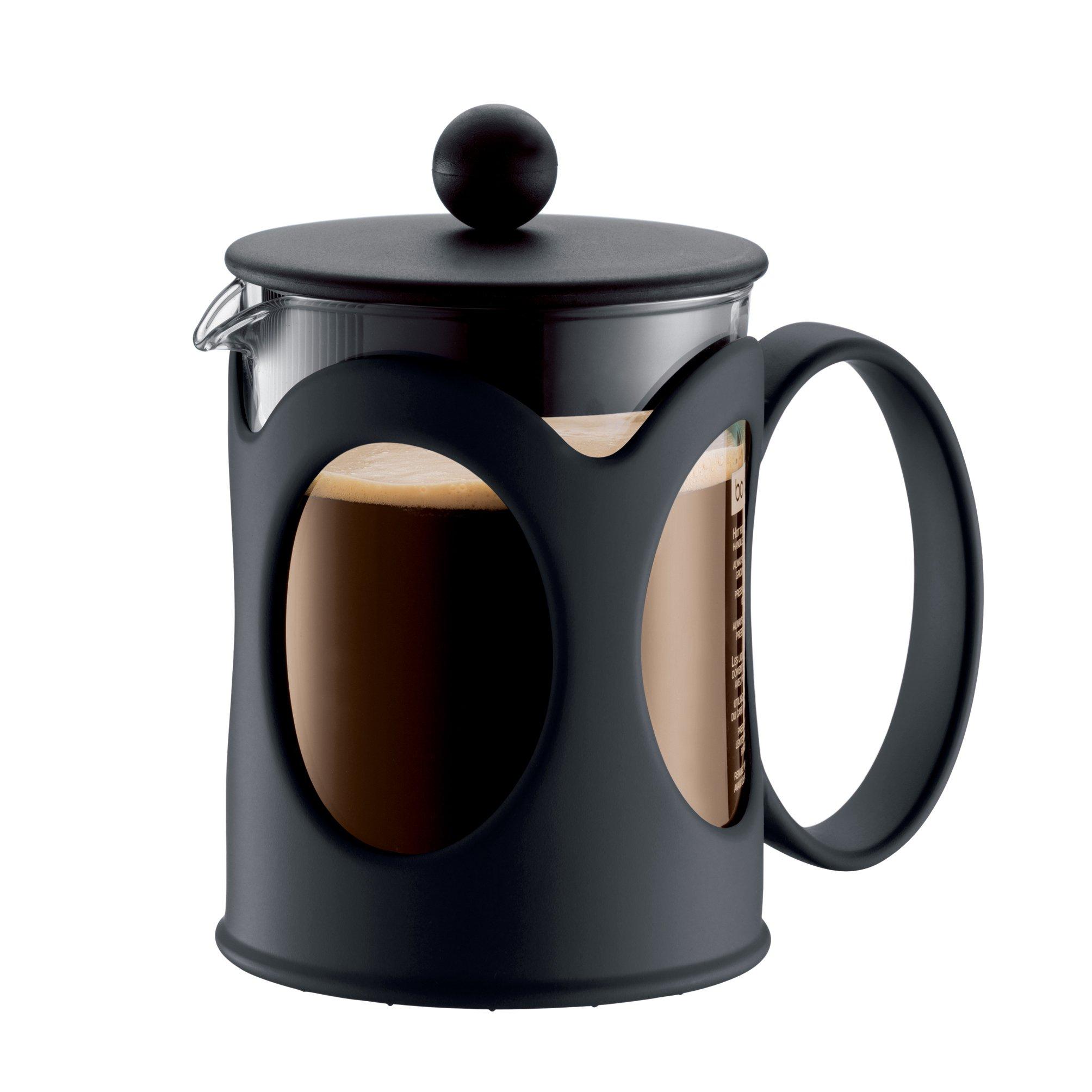 Bodum KENYA Coffee Maker, French Press Coffee Maker, Black, 17 Ounce