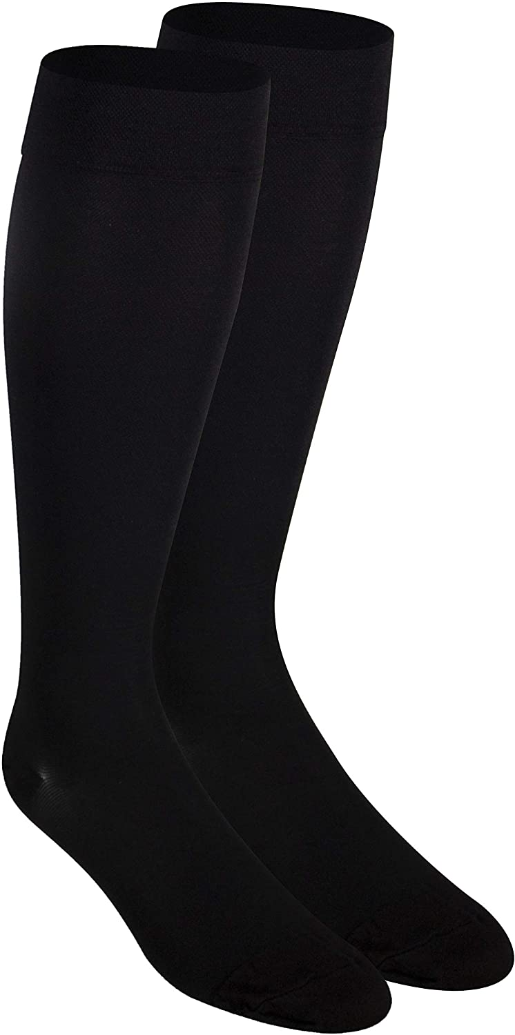 Nuvein Compression Socks for Women and Men, Medical Support Stockings, Black (Closed Toe), 3X-Large (20-30 mmHg)