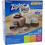 Ziploc Space Bag 14 Bag Variety - 14pc 4-M, 4-L, 3-XL Cubes, 3-Trvl