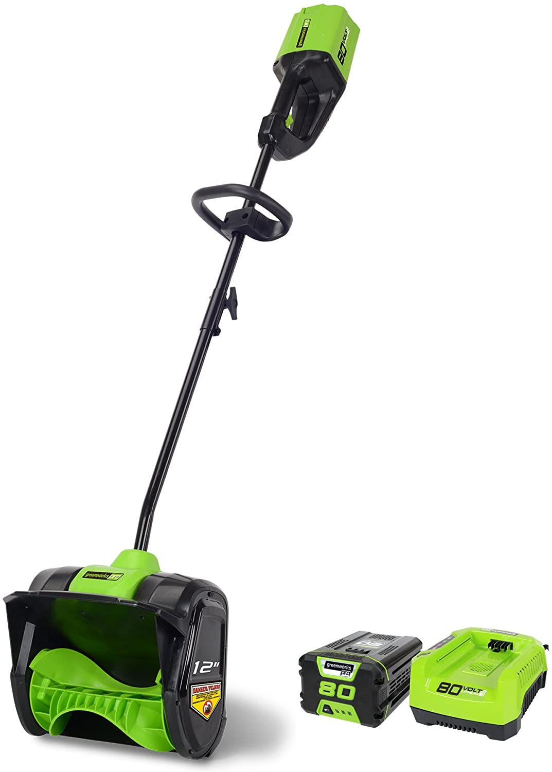 B00YYPQPYC Greenworks PRO 12-Inch 80V Cordless Snow Shovel, 2.0 AH Battery Included 2600602 71NEk0ljqcL