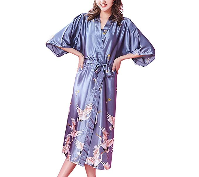 ZXCB Kimono De Verano De Las Mujeres Sexy Camisón De Las Señoras ...