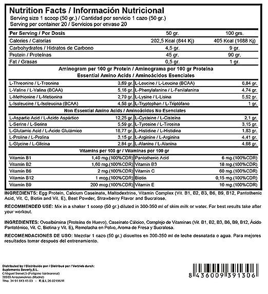 Beverly Nutrition Exclusive para ABSat40 FUSION OVOPRO Proteína de huevo y caseína en polvo, para una liberación lenta y absorción de proteína en los ...