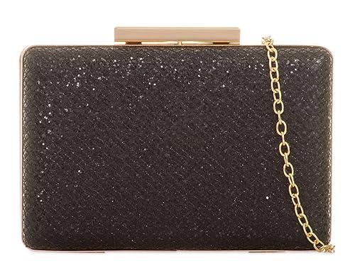 734ace6d7369 LeahWard Women s Diamante Clutch Bag Evening Handbag Wedding Purses (5062  Black)