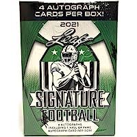 2021 Leaf Signature Football Blaster Box 4 Autographs per Box photo