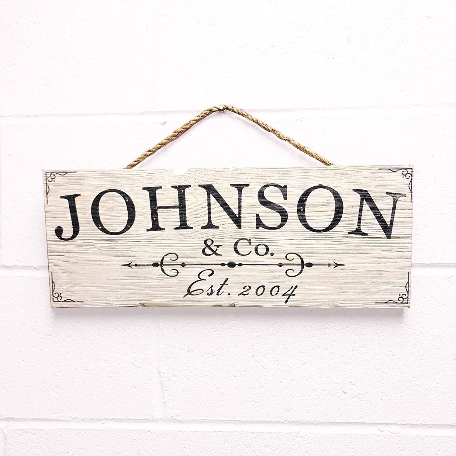 Artblox Personalized Rustic Family Wood Sign Home Decor