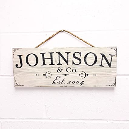 0c2aed4e70408 Artblox Personalized Rustic Family Wood Sign Home Decor - Custom Last Name  and Established Year, Real Barn Wood Farmhouse Style Wooden Wall Art ...