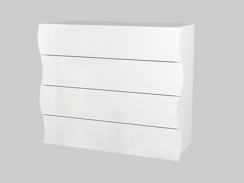 VE.CA. Madia Flick mobile contenitore in MDF laccato bianco lucido arredo soggiorno camera design alta qualità VE.CA.s.r.l.