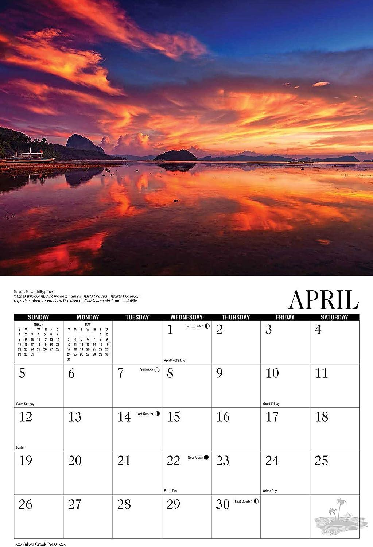 2020 Sunsets and Beaches Calendar