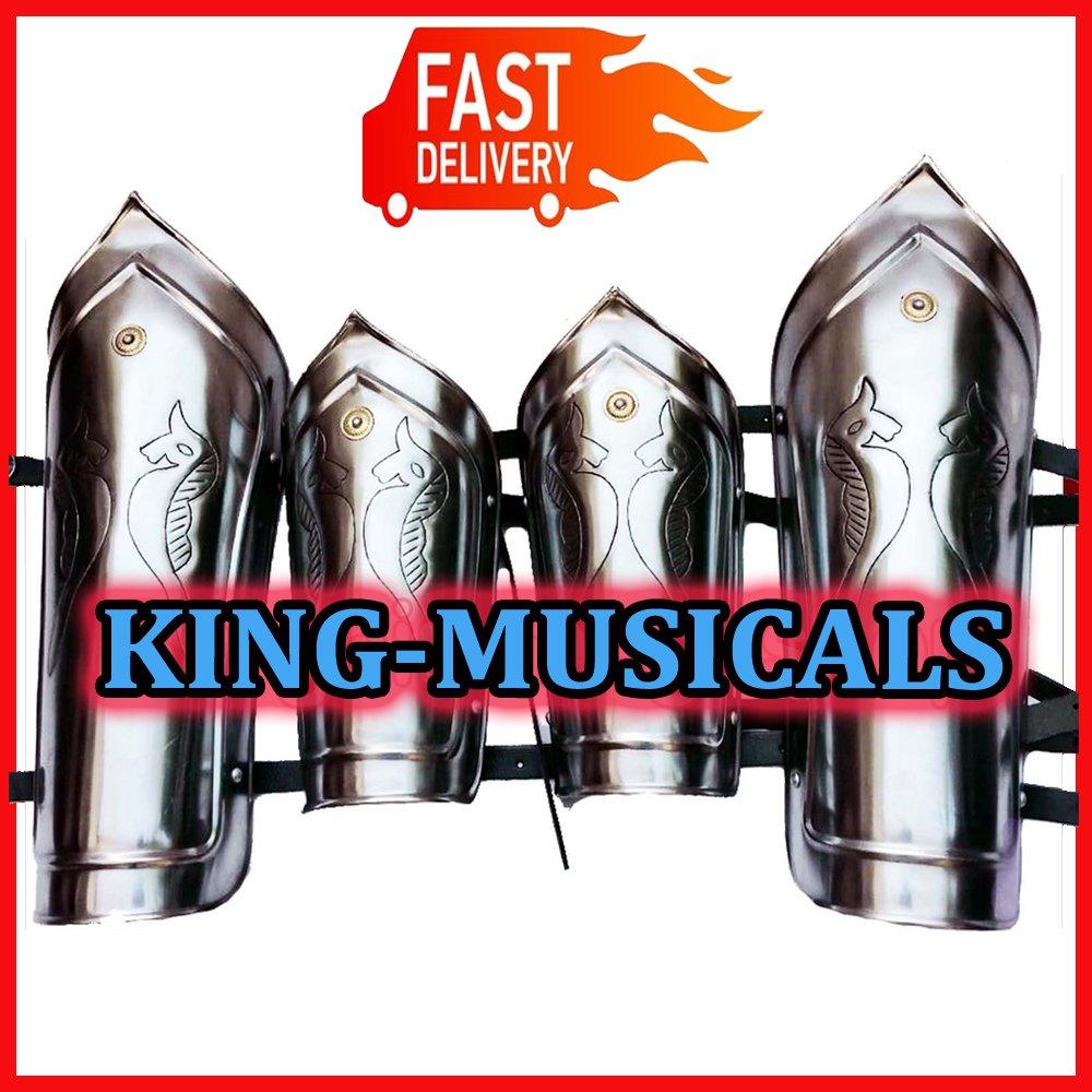 Medieval Leg Armor Pair, 16 Gauge Iron Steel Leg Guards Set, Greaves Shin guard