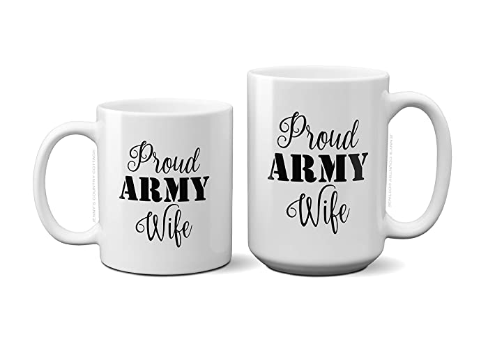 Amazon Proud Army Wife Coffee Tea MugBirthday Gift For