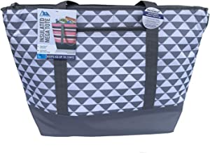 Arctic Zone 12 Gallon Insulated Mega Grey and White Bag: for Frozen Food, Perishables and Hot Food