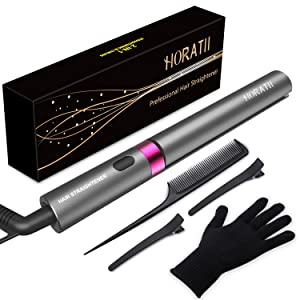 Hair Straightener and Curling Iron 2 in 1 for Hair Styling, Tourmaline Ceramic Flat Iron for All Hair Types Real-Time Temperature Display 2019 Latest Professional Version