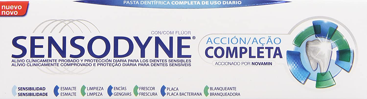 Sensodyne Acción Completa Pasta Dentífrica - 75 ml: Amazon.es: Amazon Pantry