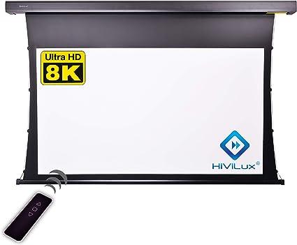 Hivilux Tension Motor Leinwand Dualspann Professionell Kinofolie Hiviwhite Cinema 1 0 8k 4k Uhd Für 3d 2d Txn Serie 16 9 Bild 299x168cm 135 Diagonal Schwarz Musikinstrumente