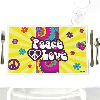 Amazon.com: 60 s Hippie – Decoración de mesa de fiesta ...