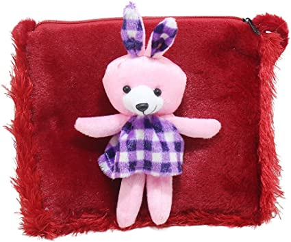 Tickles Red Teddy School Sling Bag Stuffed Soft Plush Toy 2 litres