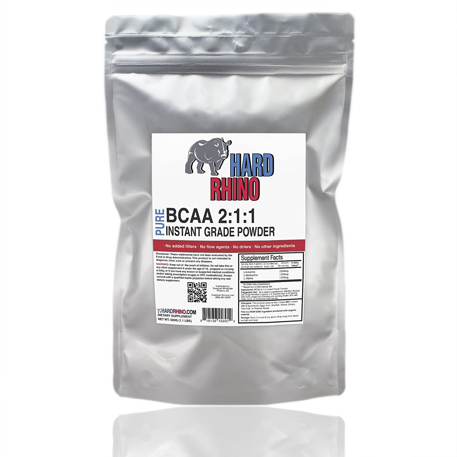 Hard B006HLYO12 Rhino BCAA Hard 2:1:1 Instantized Branched Chain Amino Acid Scoop Powder, 500 Grams (1.1 Lbs), Unflavored, Lab-Tested, Scoop Included by Hard Rhino B006HLYO12, いまどき本舗:e4c99b04 --- dakuwebsite.xyz