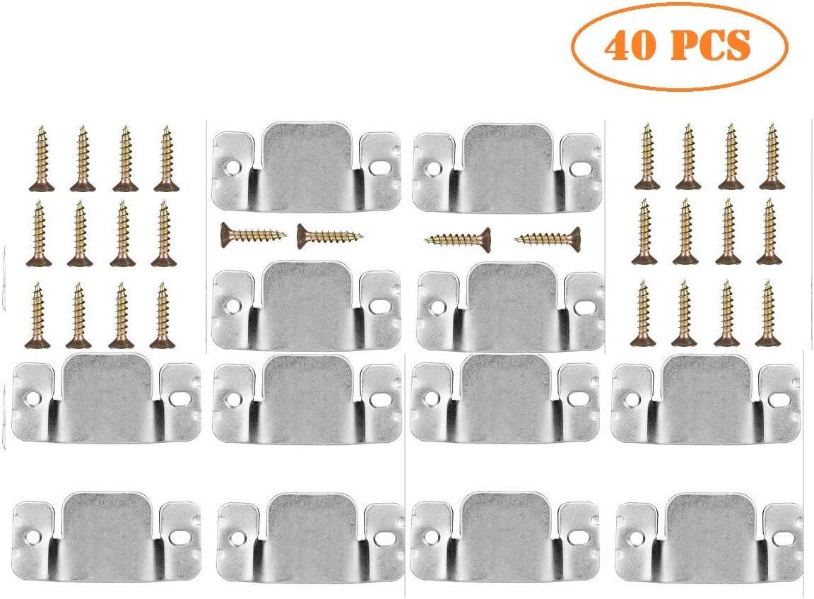 12 Pcs Metal Sectional Sofa Interlocking Furniture Connector with Screws Interlocking Furniture Connector with 28 PSC Screws,sectional Sofa Connector