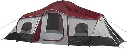 Ozark Trail 10 personne 3-pièce cabine tente avec 2 Côté entrées Rouge