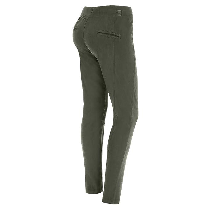 b5277ce47416 FREDDY Pantalone Lungo Regular in Cotone Interlock Fondo Dritto  Amazon.it   Abbigliamento
