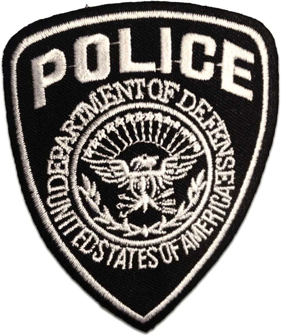 termoadhesivos bordados aplique para ropa 7x9cm negro Police polic/ía Logo Parches