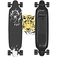 Electric Skateboard, 400W Brushless Motor Electric Skateboard with Remote, 20 MPH & 10 Miles Long-Range, 3 Speeds…