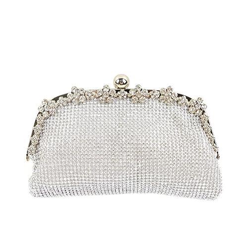 Yingzu De las mujeres Lujo Bola de masa hervida En forma de Embrague Diamantes de imitación