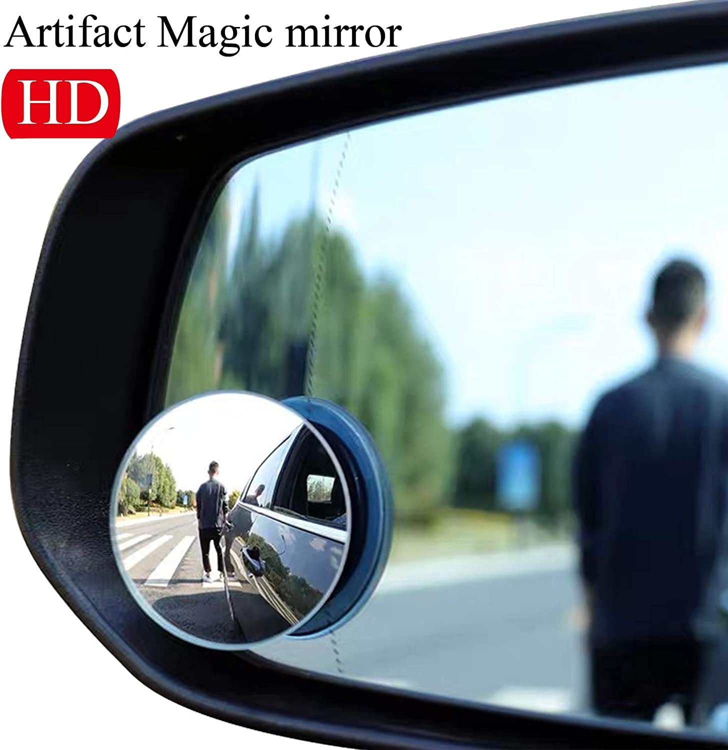 Car Blind Spot Mirror Universal Large View Rear Glass Convenient For Beginners